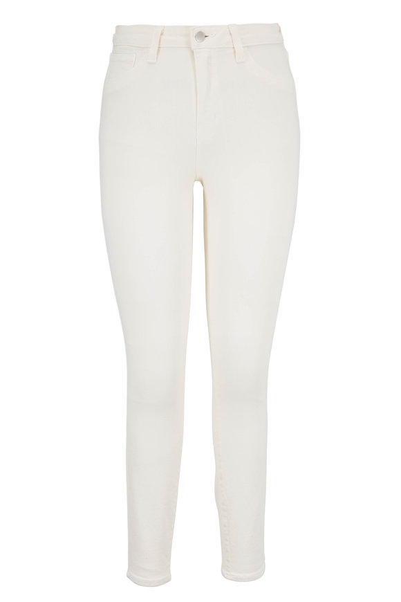 L'Agence Margot Cream High-Rise Ankle Jean