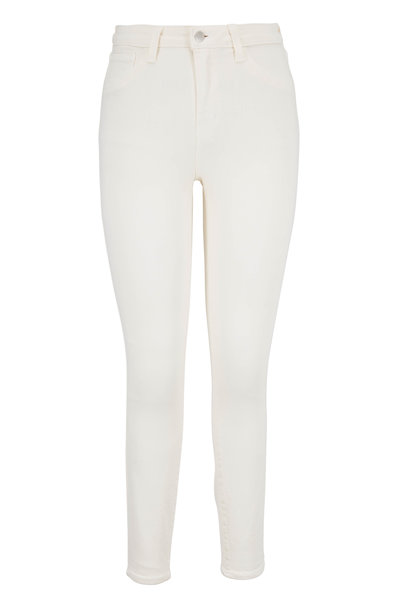 L'Agence - Margot Cream High-Rise Ankle Jean