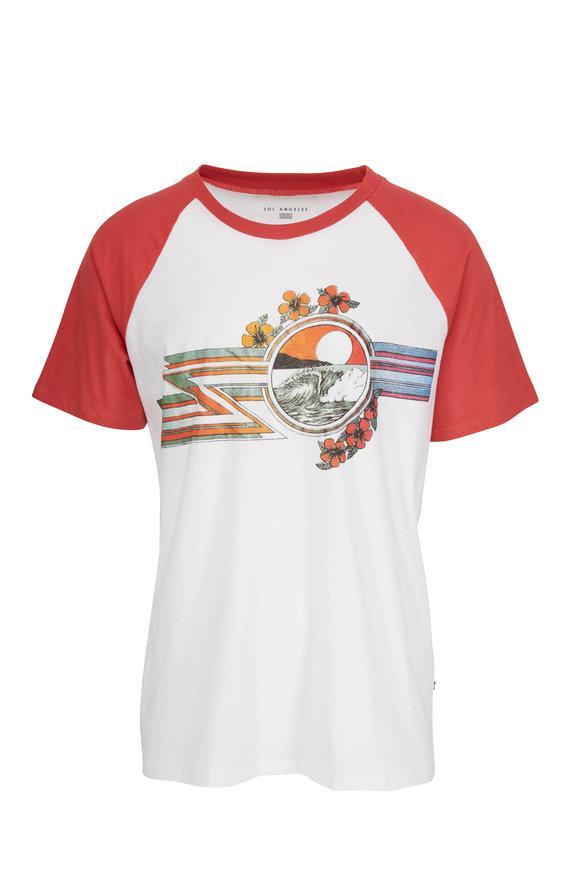 Sol Angeles Mana Graphic Crewneck Baseball T-Shirt