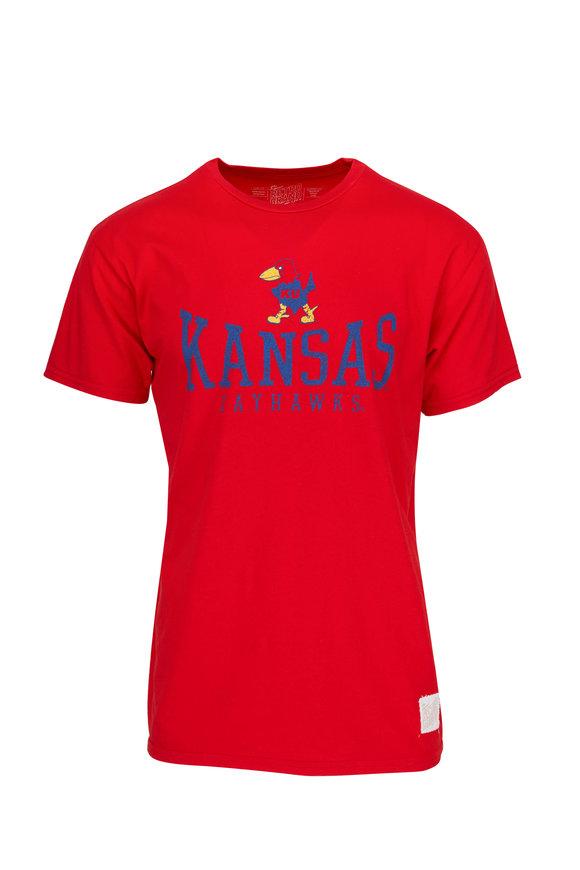 Retro Brand Red Kansas Jayhawks T-Shirt