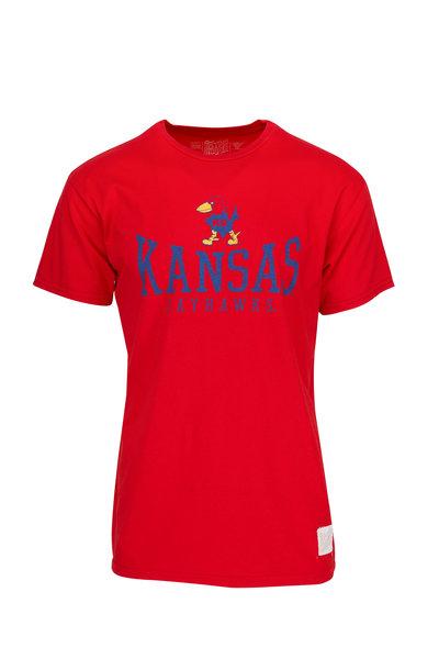 Retro Brand - Red Kansas Jayhawks T-Shirt