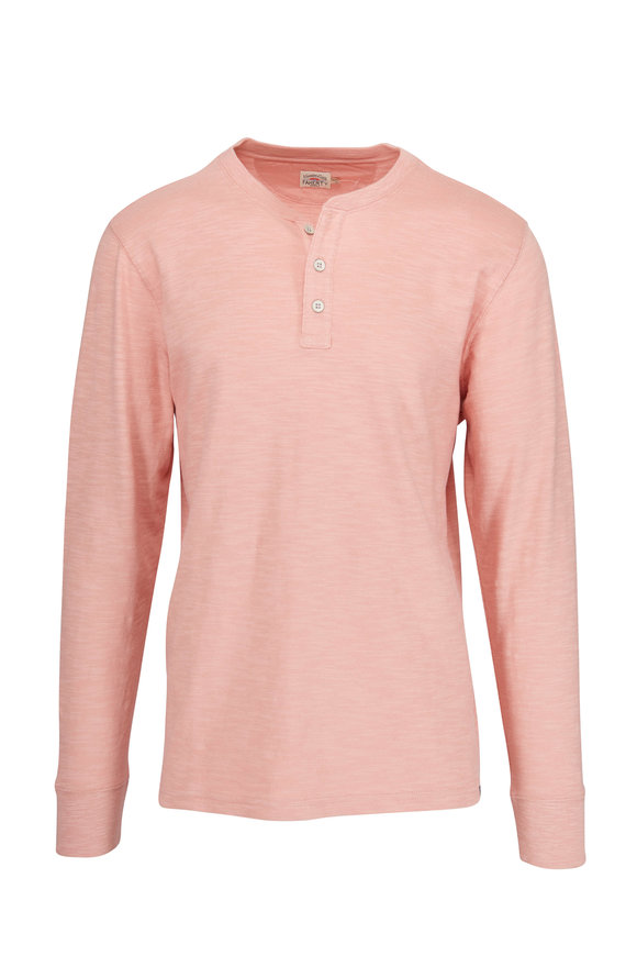 Faherty Brand Coral Slub Cotton Henley