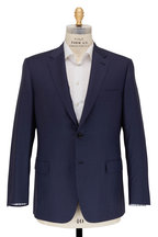 Brioni -  Navy Blue Sharkskin Wool Suit