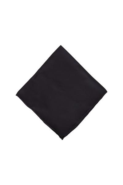 Dion - Black Silk Pocket Square