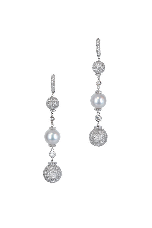 Mariani Bellagio South Sea Pearl & Diamond Earrings