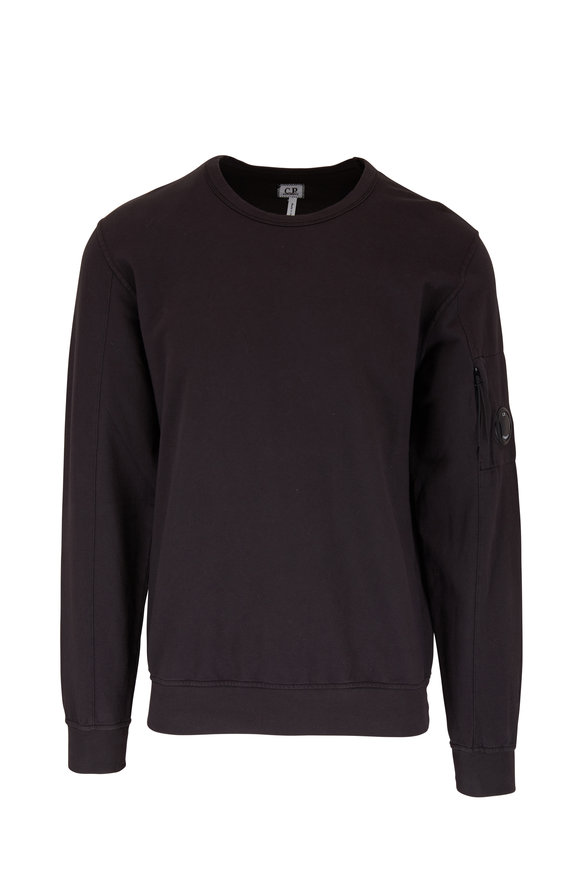 CP Company Washed Black Light Fleece Sweatshirt