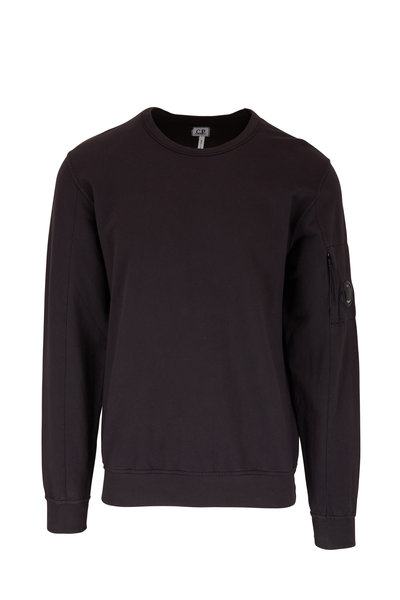 CP Company - Washed Black Light Fleece Sweatshirt