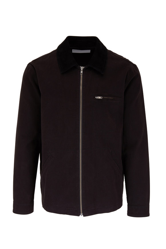 BLDWN Duncan Solid Black Cotton Jacket