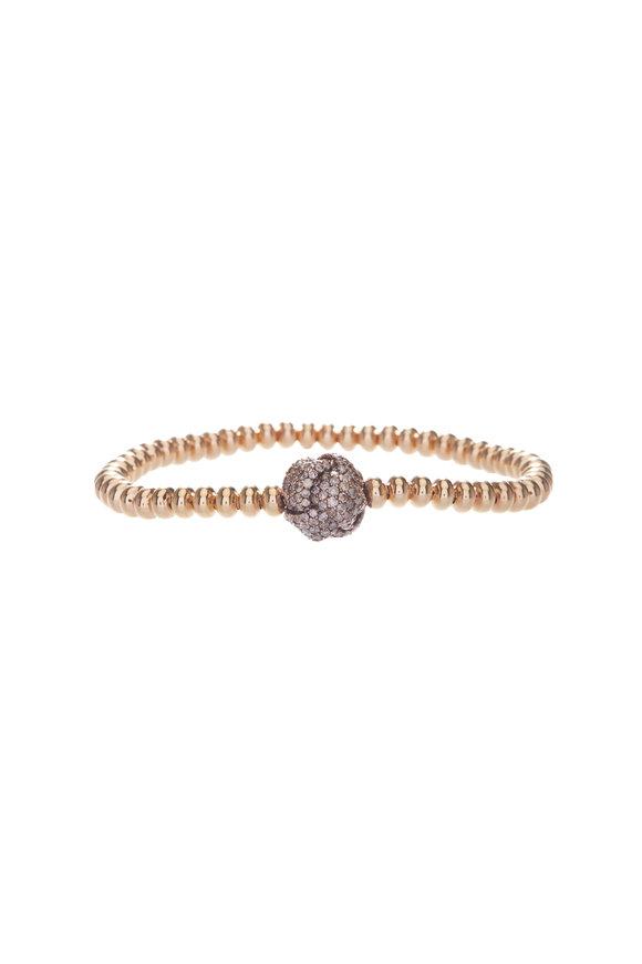 Mariani 18K Rose Gold Nodi Brown Diamond Knot Bracelet