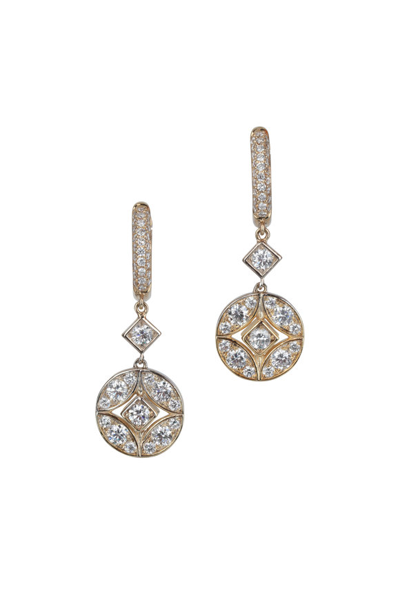 Mariani 18K Yellow Gold Lucius Diamond Earrings