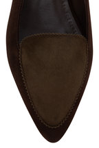 Manolo Blahnik - Agos Brown & Olive Green Suede Flat Loafer