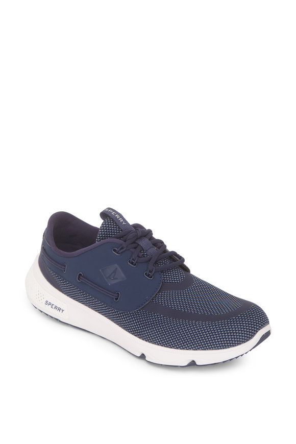 Sperry 7 Seas Three Eyelet Navy Blue Mesh Sneaker