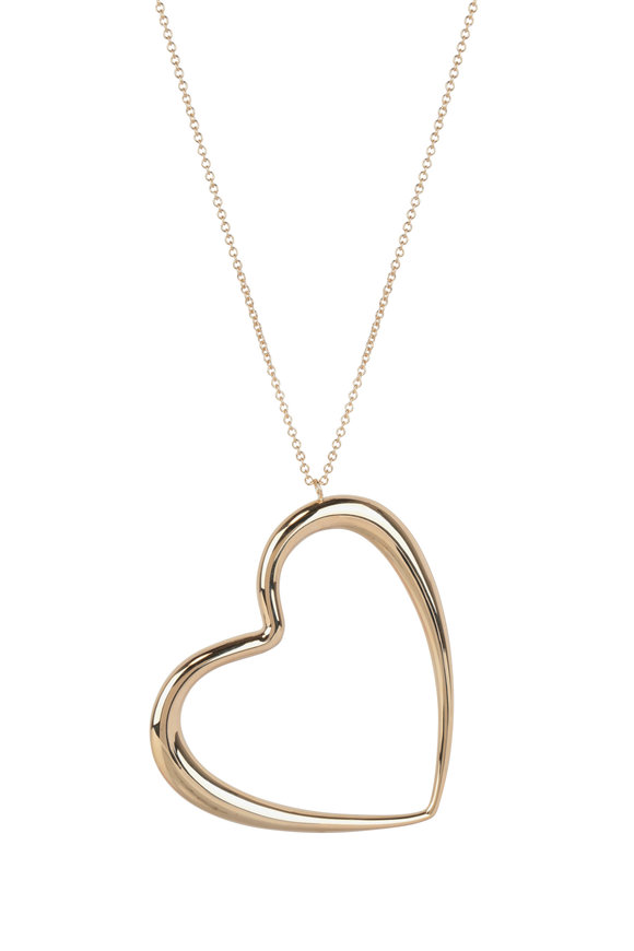 Alberto Milani 18K Yellow Gold Big Heart Necklace