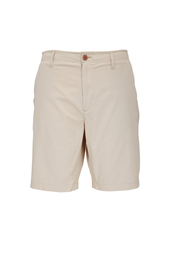 Tailor Vintage Pumice Linen & Cotton Slim Fit Shorts
