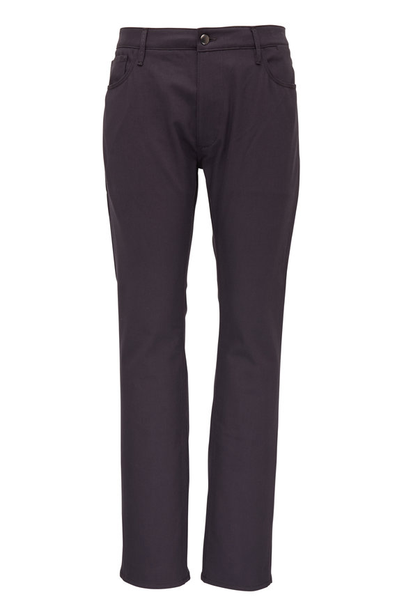 Atelier Munro Gray Five Pocket Slim Fit Pant