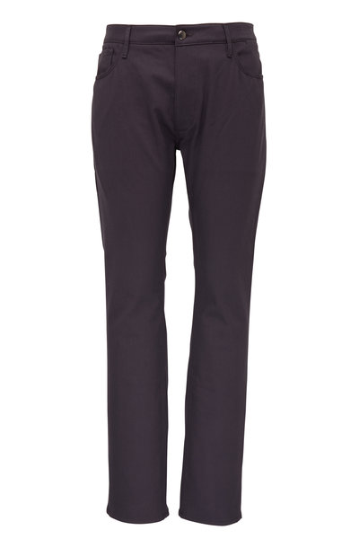 Atelier Munro - Gray Five Pocket Slim Fit Pant