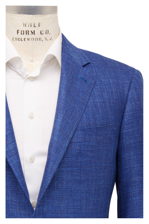 Canali Kei Royal Blue Wool Sportcoat