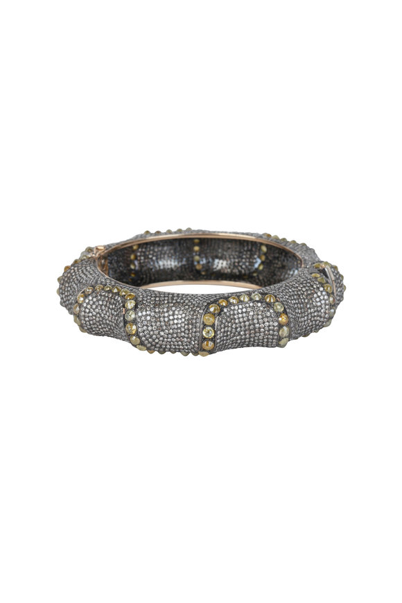 Loren Jewels 14K Gold & Silver Champagne Diamond Bracelet