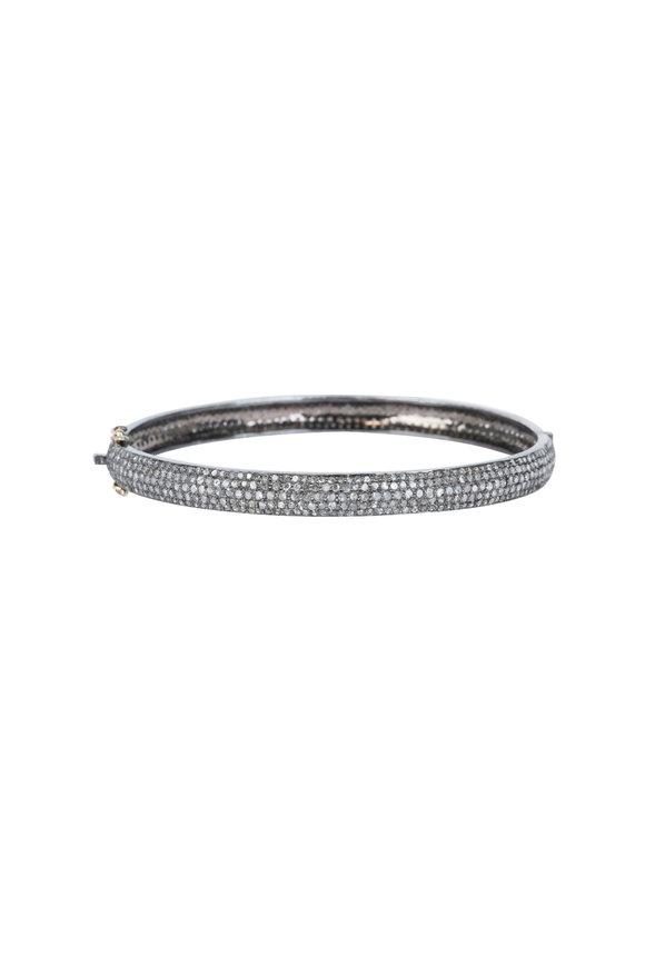 5c8de8668ad Loren Jewels 14K Gold & Silver Champagne Diamond Bangle