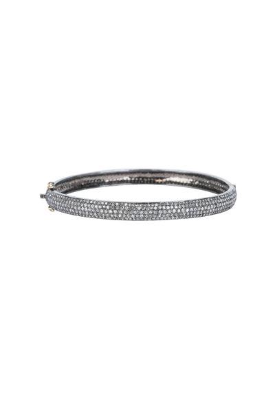 Loren Jewels - 14K Gold & Silver Champagne Diamond Bangle