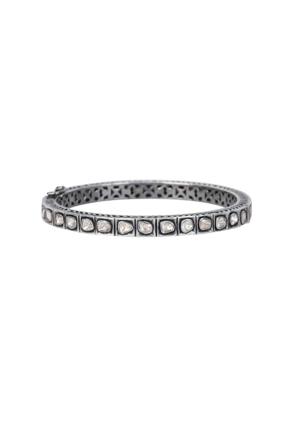 Loren Jewels Sterling Silver Rose Cut Diamond Bracelet
