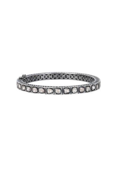 Loren Jewels - Sterling Silver Rose Cut Diamond Bracelet