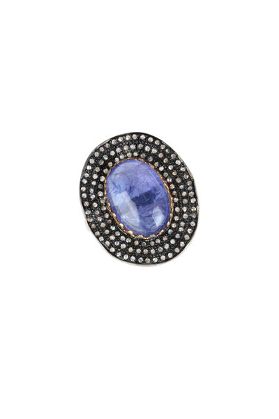 Loren Jewels - Sterling Silver Tanzanite & Pavé Cocktail Ring