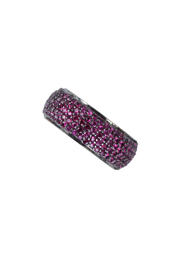 Loren Jewels 14K Gold & Sterling Silver Ruby Band