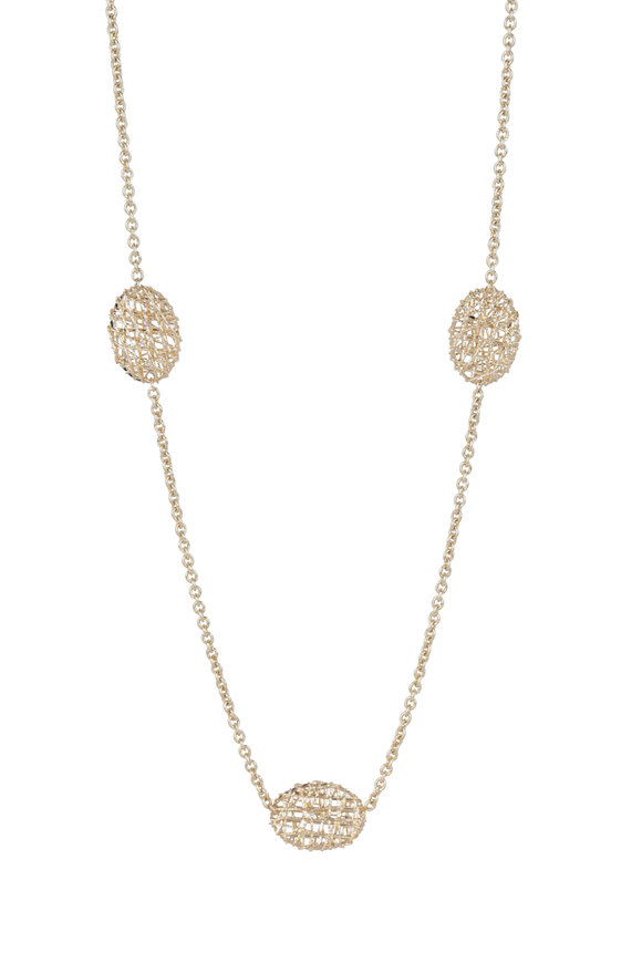 Alberto Milani 18K Yellow Gold Duomo Station Chain Necklace