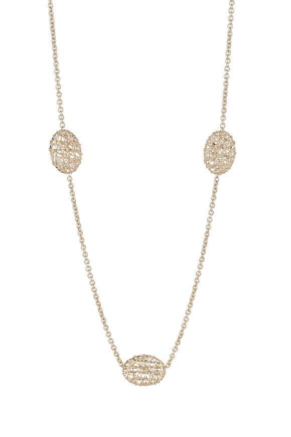 Alberto Milani 18K Yellow Gold Duomo Station Chain Necklace