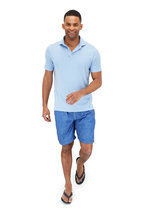 Fedeli - Frosted Blue Cotton Jersey Polo