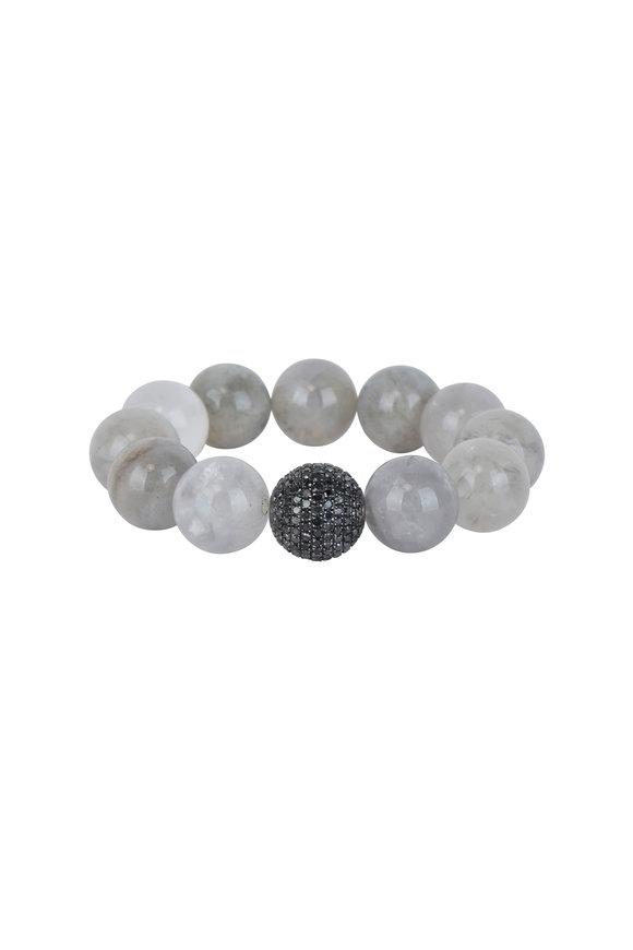 Loren Jewels Black Diamond & Labradorite Stretch Bracelet