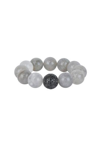 Loren Jewels - Black Diamond & Labradorite Stretch Bracelet