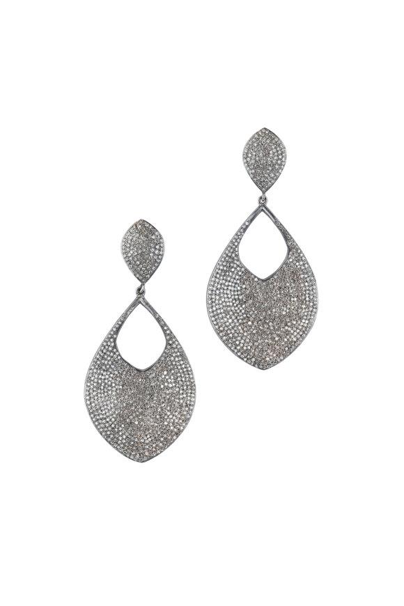 Loren Jewels Sterling Silver Pavé Dangle Earrings