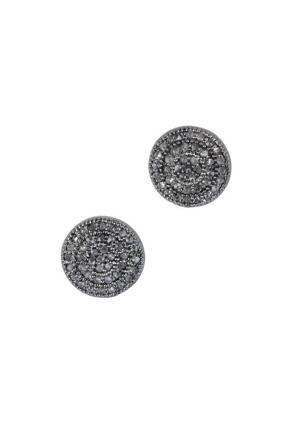 Loren Jewels Sterling Silver Pavé Stud Earrings