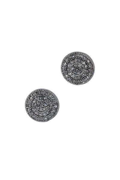 Loren Jewels - Sterling Silver Pavé Stud Earrings
