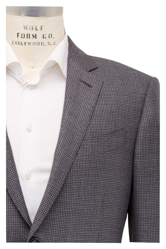 Ermenegildo Zegna Light Gray Check Wool Sportcoat