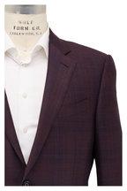 Ermenegildo Zegna - Wine Tonal Plaid Wool & Silk Sportcoat