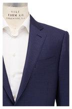 Ermenegildo Zegna - Navy Blue Micro Tic Pattern Wool Sportcoat