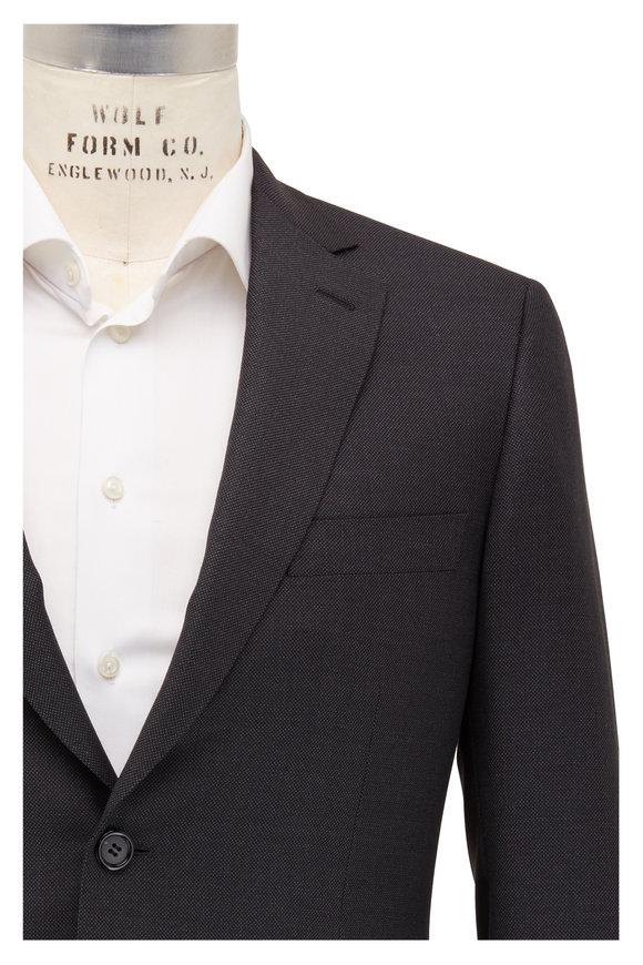 Brioni Charcoal Gray Birdseye Wool Suit