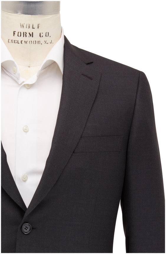 Brioni Charcoal Gray Birdseye Wool Suit
