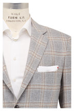 Kiton - Light Gray Plaid Cashmere Sportcoat