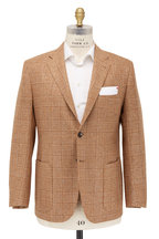 Kiton - Khaki Houndstooth Cashmere Sportcoat