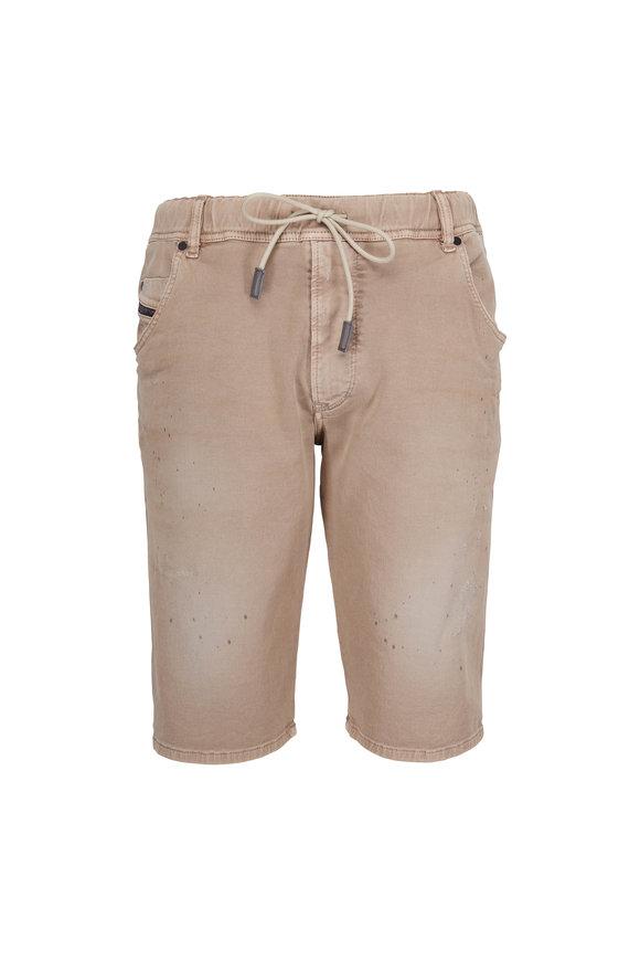 Diesel Jogg Tan Distressed Shorts