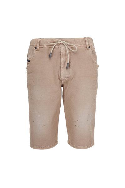 Diesel - Jogg Tan Distressed Shorts