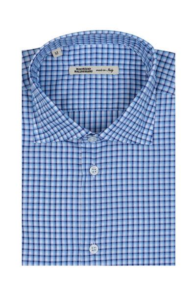 Maurizio Baldassari - Navy Blue & White Check Sport Shirt