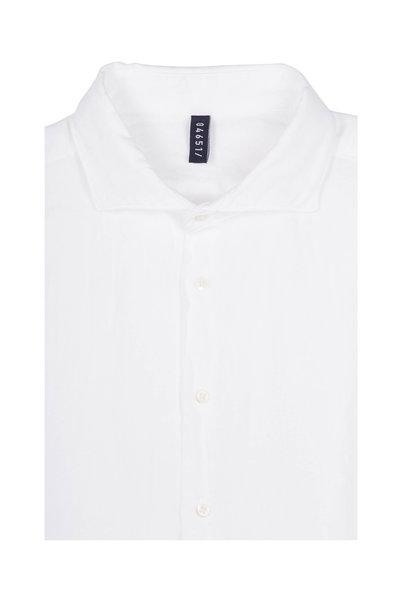04651/ - White Linen Sport Shirt