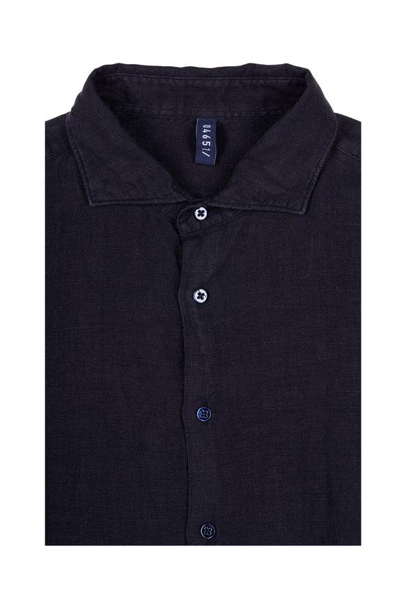 04651/ Navy Linen Sport Shirt