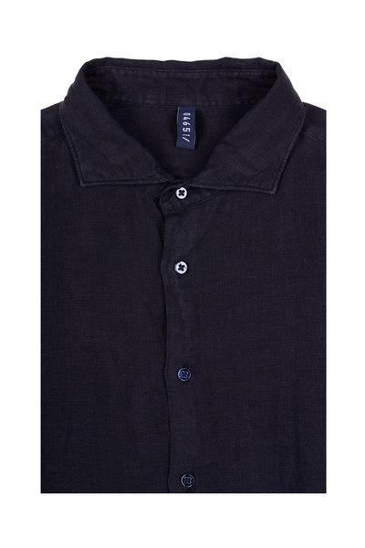 04651/ - Navy Linen Sport Shirt