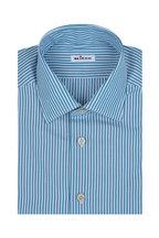 Kiton - Green Striped Dress Shirt